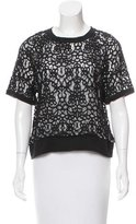 Robert Rodriguez Short Sleeve Lace Top