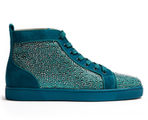 Christian Louboutin Louis embellished suede high-top trainers