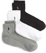 Polo Ralph Lauren Men's 3-Pack Tech Athletic Quarter Socks