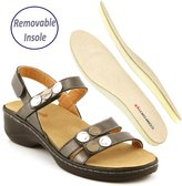 Comfortiya Women's Rose Leather Casual Slingback Sandal Size 39 M EU / 9.5-10 B(M) US