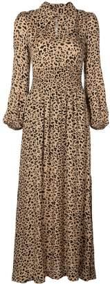 Baum und Pferdgarten leopard print flared dress