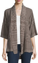 Johnny Was Tribal Half-Sleeve Embroidered Kimono Jacket, Plus Size