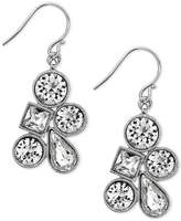 Nina Silver-Tone Mixed Crystal Cluster Earrings