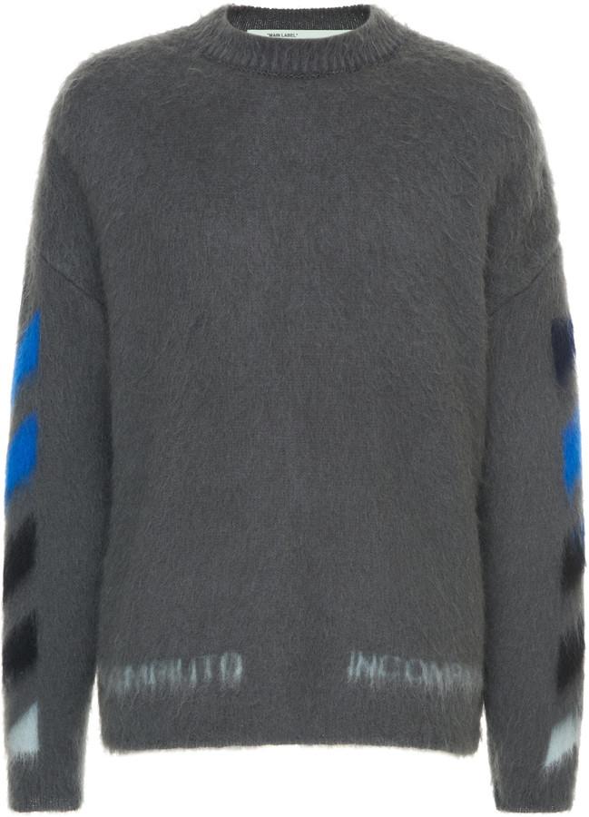 Off-White Off White C/O Virgil Abloh Logo-Intarsia Wool Sweater