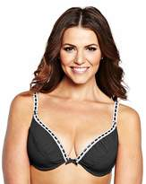 Shapely Figures 2Pack Plunge Ivory/Black Bras