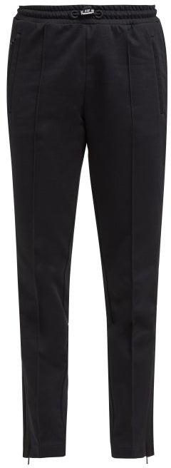 Moncler Side-stripe Cotton-jersey Track Pants - Black