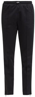Moncler Side-stripe Cotton-jersey Track Pants - Womens - Black