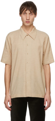 Séfr Beige and Brown Office Check Suneham Shirt