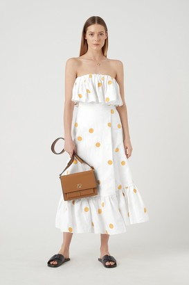 Camilla And Marc Embroidered Linen Skirt