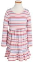 Pumpkin Patch Stripe Skater Dress (Toddler Girls & Little Girls)