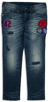 True Religion Boys' Rocco Distressed & Appliquéd Skinny Jeans - Little Kid, Big Kid