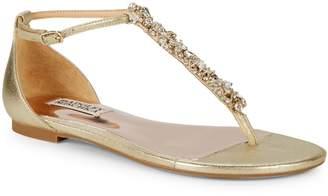 Badgley Mischka HolbrookCrystal Embellished Thong Sandals