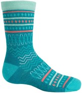 Smartwool Diamond Flush Socks - Merino Wool, Crew (For Little Girls)