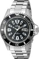 Croton Men's CA301282BKBK Analog Display Quartz Silver Watch
