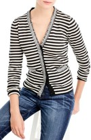 J.Crew Women's Stripe Harlow Cardigan Sweater