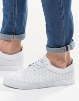 Asos Lace Up Sneakers in White With Perforation