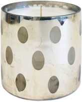 Seasons Greetings Dot Pattern Jar Candle in Silver