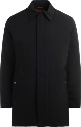 Museum Chester Trench Coat In Black Waterproof Fabric