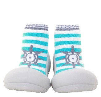 Attipas Marine Green Ergonomic Baby First Walking Shoes Breathable Children's Slippers ABS Socks Baby Shoes Non-Slip 24
