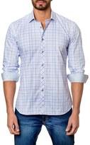 Jared Lang Men's Trim Fit Plaid Sport Shirt
