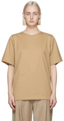 Totême Beige Organic Cotton Oversized T-Shirt