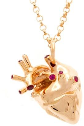 Rubie's Costume Co Strange Fruit Heart Pendant Rose Gold With