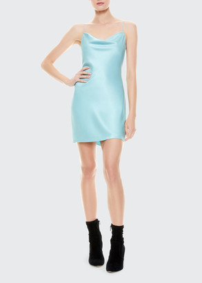 Alice + Olivia Nelle Spaghetti Strap Mini Dress