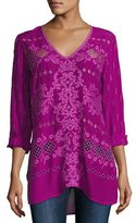 Johnny Was Damask Embroidered Blouse/Tunic