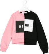 MSGM contrast logo sweater