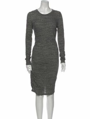 Etoile Isabel Marant Crew Neck Midi Length Dress Grey