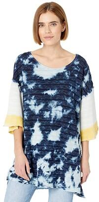 Free People Blue Blue Tee (Indigo Combo) Women's Clothing