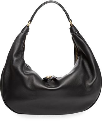 STAUD Sasha Medium Leather Shoulder Bag