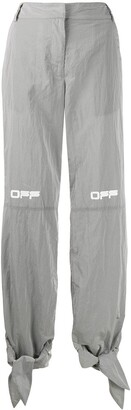 Off-White Printed Logo Tie Cuffs Trousers