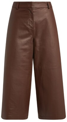 Fabiana Filippi Leather Bermuda Shorts