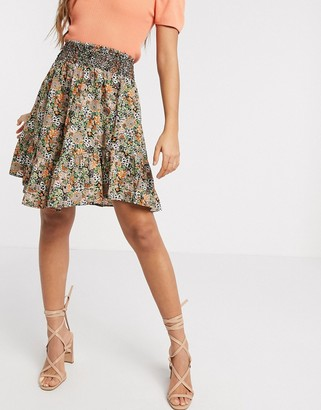 Y.A.S skater mini skirt in ditsy floral