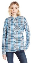 Volcom Juniors Oldie N Goodie Long Sleeve Flannel Plaid Shirt