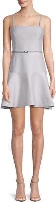 Halston Belted A-Line Dress