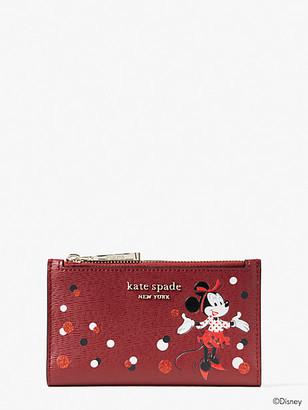 Kate Spade Disney X Minnie Mouse Small Slim Bifold Wallet