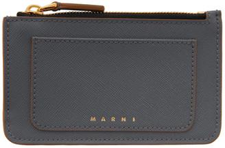 Marni Grey Zip Credit Card Holder