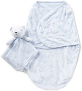 Starting Out Baby Boys Swaddle Blanket & Blanket Buddy Set