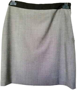 Lanvin Grey Wool Skirt for Women