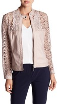 Insight Faux Leather Lasercut Jacket