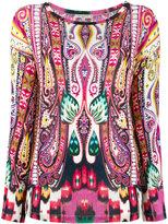 Etro patterned jumper - women - Spandex/Elastane/Viscose - 40