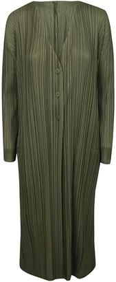 Pleats Please Issey Miyake Pleated Long Dress