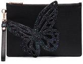 Sophia Webster Flossy glitter butterfly clutch