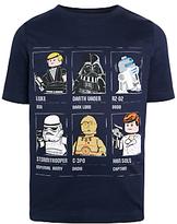Lego Star Wars Children's Grid T-Shirt, Blue