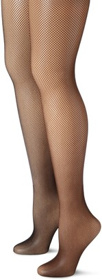 MUSIC LEGS Women's 2 Pack Seamless Fishnet Pantyhose