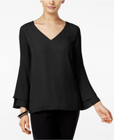 Alfani Flared-Sleeve V-Neck Top, Only at Macy's