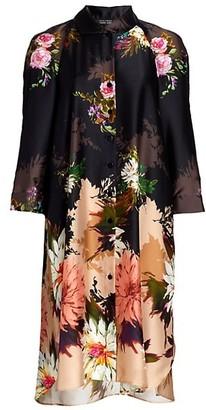 Teri Jon by Rickie Freeman Printed Chiffon Dress