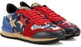 Valentino Garavani Starstudded Rockrunner Denim Sneakers